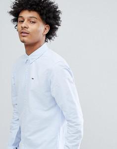 Синяя оксфордская рубашка классического кроя на пуговицах с логотипом Tommy Jeans - Синий