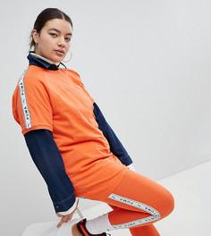 Оранжевые леггинсы с полосой по бокам Puma эксклюзивно для ASOS Plus - Оранжевый