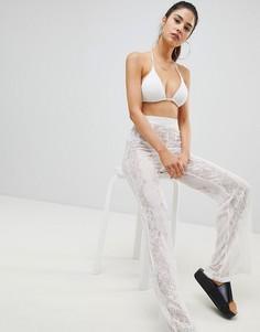 Кружевные пляжные брюки PrettyLittleThing - Белый