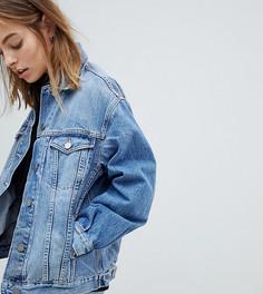 Голубая джинсовая куртка ASOS DESIGN Petite - Синий