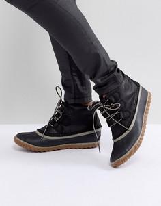 Черные непромокаемые кожаные ботинки Sorel Out N About - Черный