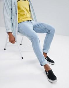 Голубые узкие джинсы Cheap Monday - Синий