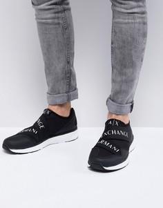 Черные кроссовки с логотипом Armani Exchange - Черный