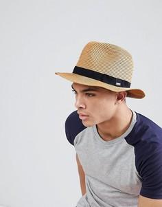 Летняя шляпа-трилби Barts Aveloz - Коричневый