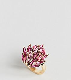 Броское кольцо с камнями ASOS DESIGN Curve - Розовый