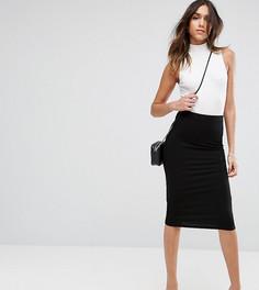Трикотажная юбка-карандаш SOS DESIGN - Черный Asos