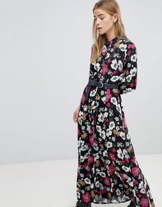 Платье макси с цветочным принтом Pimkie - Черный