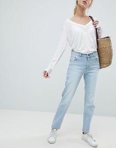 Укороченные джинсы в винтажном стиле Dr Denim Edie - Синий