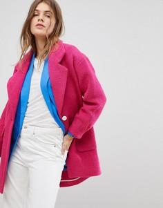 Строгое пальто Esprit - Розовый