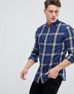 Синяя рубашка классического кроя в клетку New Look - Синий
