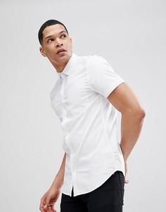 Белая оксфордская рубашка обтягивающего кроя New Look - Белый