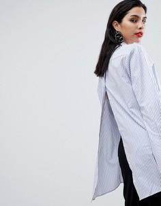 Свободная рубашка в полоску с открытой спиной Sisley - Мульти
