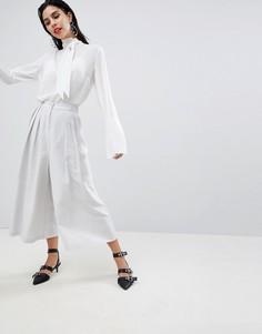 Широкие укороченные брюки Sisley - Медный