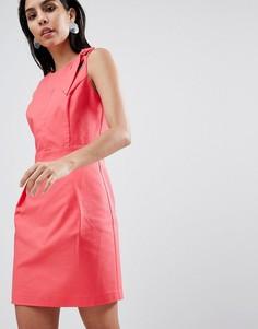 Приталенное платье Sisley - Розовый