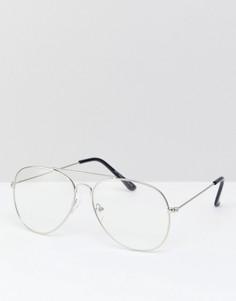 Очки-авиаторы с прозрачными стеклами Reclaimed Vintage Inspired эксклюзивно для ASOS - Золотой