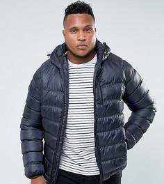 Легкая дутая куртка с капюшоном Bellfield PLUS - Темно-синий