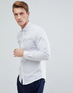 Узкая рубашка с принтом пейсли Jack & Jones Premium - Белый