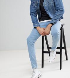 Светлые джинсы скинни ASOS TALL - Синий
