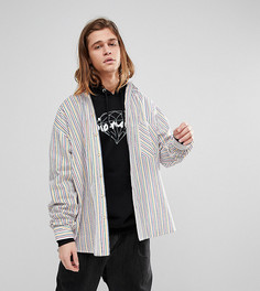 Оверсайз-рубашка в полоску Reclaimed Vintage Inspired - Белый