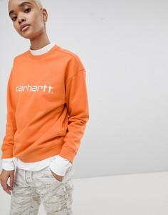 Свитшот с вышивкой Carhartt WIP - Оранжевый