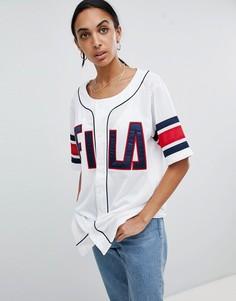 Свободная сетчатая футболка Fila - Белый