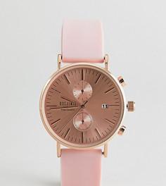 Часы 36 мм с розовым силиконовым ремешком Reclaimed Vintage Inspired эксклюзивно для ASOS - Розовый