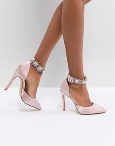 Розовые прозрачные туфли-лодочки Public Desire Camly - Розовый