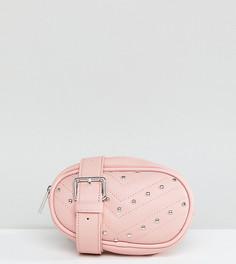 Сумка-кошелек на пояс с заклепками эксклюзивно от Skinnydip Jamie - Розовый