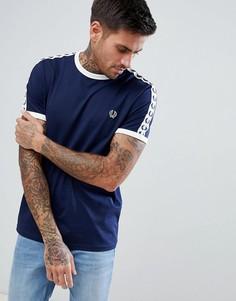 Темно-синяя футболка с отделкой кантом Fred Perry Sports Authentic - Темно-синий
