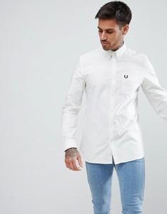 Белая оксфордская рубашка Fred Perry - Белый