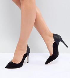 Туфли на каблуке с острым носом Faith Wide Fit - Черный