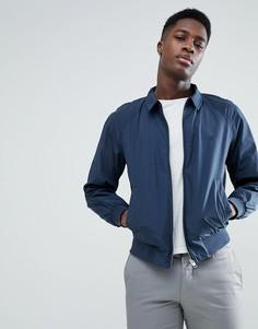 Куртка Харрингтон с подкладкой в клетку Jack & Jones - Темно-синий