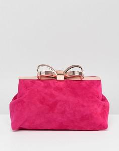 Замшевый клатч Ted Baker - Розовый