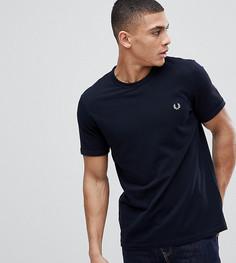 Темно-синяя футболка с круглым вырезом и логотипом Fred Perry - Темно-синий