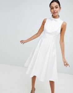 Платье миди с кружевной отделкой Ted Baker - Белый