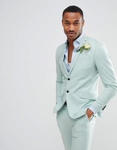 Зеленый приталенный пиджак Jack & Jones Premium - Зеленый