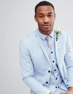 Пыльно-синий пиджак зауженного кроя Jack & Jones Premium - Синий
