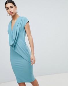Платье с драпировкой ASOS DESIGN - Синий