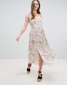 Повседневное платье макси с заниженной талией и цветочным принтом ASOS DESIGN - Мульти
