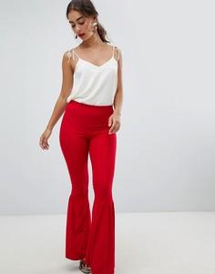 Расклешенные брюки с оборками River Island - Красный
