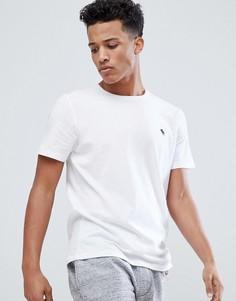 Белая футболка с круглым вырезом и логотипом Abercrombie & Fitch - Белый