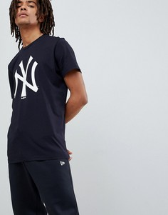 Темно-синяя футболка с большим логотипом New Era New York Yankees - Темно-синий