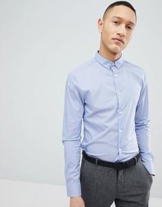 Голубая суперузкая рубашка New Look - Синий