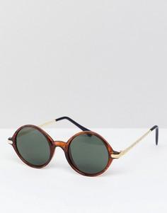 Круглые солнцезащитные очки в черепаховой оправе Reclaimed Vintage Inspired эксклюзивно для ASOS - Коричневый