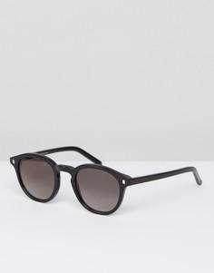 Солнцезащитные очки в круглой черной оправе Monokel - Черный