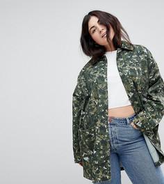 Свободная камуфляжная куртка ASOS CURVE - Мульти
