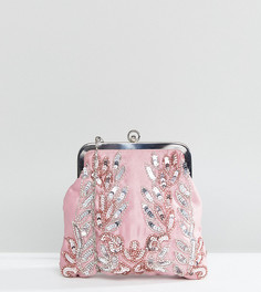 Клатч с отделкой пайетками Maya - Розовый