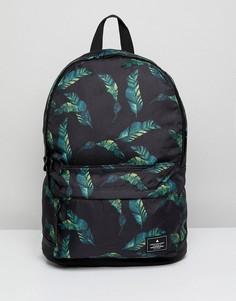 Черный рюкзак с принтом листьев ASOS - Черный