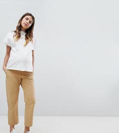 Парусиновые брюки карго с поясом под животом ASOS DESIGN Maternity - Бесцветный