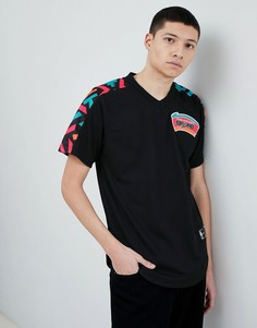 Черная сетчатая футболка Mitchell & Ness NBA San Antonio - Черный
